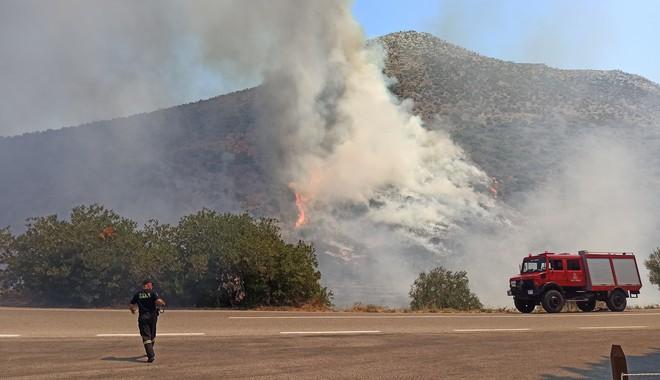 Αποκλειστική φωτογραφία του News247 από τις πρώτες στιγμές της φωτιάς