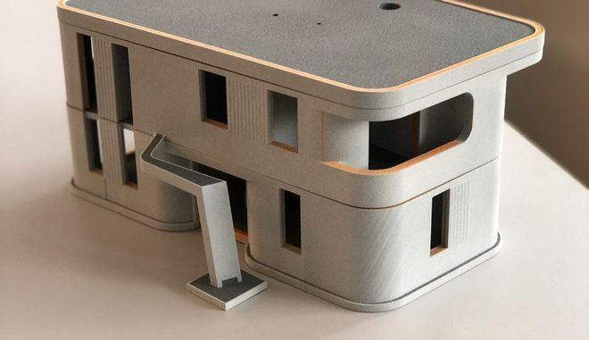 """Έλληνας """"εκτυπώνει"""" το πρώτο 3D διώροφο κατοικήσιμο σπίτι της Ευρώπης"""