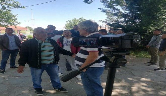 Διαμαρτυρία εργατών γης στην Ημαθία
