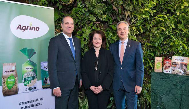 O Αναστάσιος Πιστιόλας, Πρόεδρος & Διευθύνων Σύμβουλος της εταιρίας Agrino, η Βασιλική Πιστιόλα, Αντιπρόεδρος του ΔΣ της εταιρίας Agrino και ο Άγις Πιστιόλας, Μέλος ΔΣ & Επικεφαλής Διεύθυνσης Μάρκετινγκ και Εξαγωγών της εταιρίας Agrino.