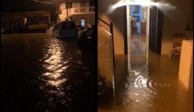 Κρήτη: Προβλήματα από την κακοκαιρία - Πλημμύρισαν σπίτια