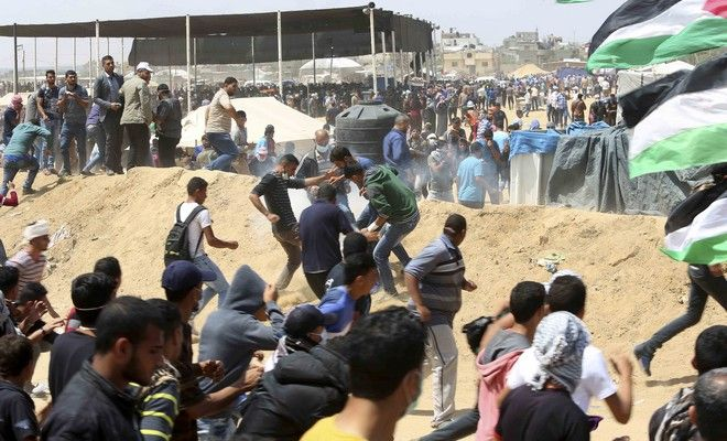 Παλαιστίνιοι διαδηλωτές