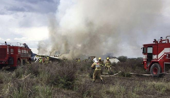 Το αεροσκάφος πήρε φωτιά μετά την αναγκαστική προσγείωση