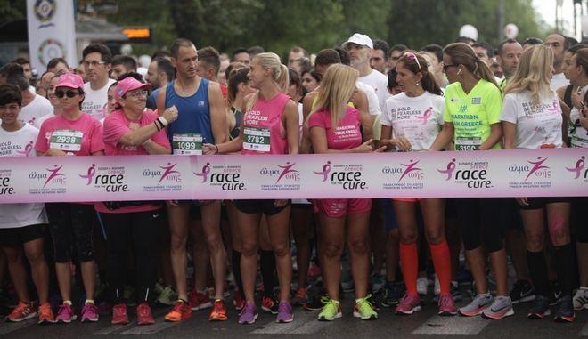 Το Race for the Cure είναι ο μεγαλύτερος θεσμός με στόχο την ευαισθητοποίηση του κοινού για τον καρκίνο του μαστού στον κόσμο