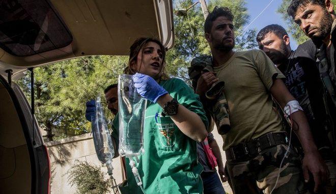 Οι πρώτες βοήθειες σε θύματα στη Συρία