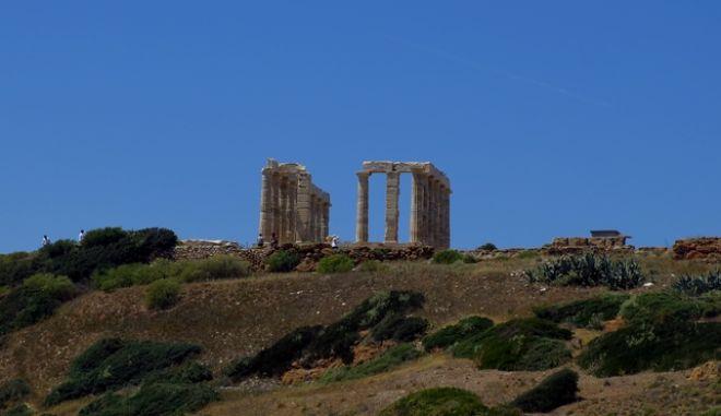 Ο Ναός του Ποσειδώνα στο Σούνιο, (EUROKINISSI/ΤΑΤΙΑΝΑ ΜΠΟΛΑΡΗ)
