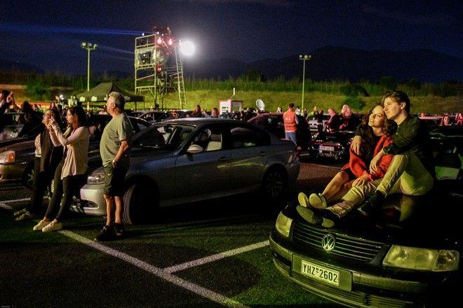 ΓΛΥΦΑΔΑ.ΦΕΣΤΙΒΑΛ DRIVE IN ΚΑΛΟΚΑΙΡΙ 2020.ΣΥΝΑΥΛΙΑ ΝΑΤΑΣΑΣ ΘΕΟΔΩΡΙΔΟΥ.ΦΩΤΟΓΡΑΦΙΑ ΑΝΤΩΝΗΣ ΝΙΚΟΛΟΠΟΥΛΟΣ/EUROKINISSI