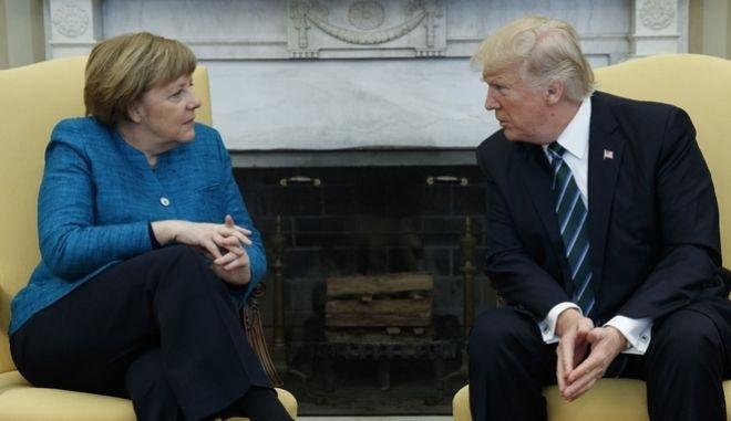 Μέρκελ-Τραμπ: Συγκλίσεις και ηχηρές διαφωνίες
