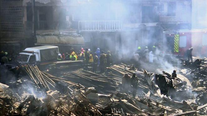 Τουλάχιστον 15 νεκροί και δεκάδες τραυματίες από πυρκαγιά σε υπαίθρια αγορά του Ναϊρόμπι