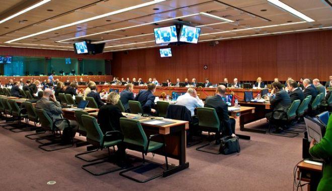 Στιγμιότυπο από την συνεδρίαση του Eurogroup την Δευτέρα 9 Μαρτίου 2015, στις Βρυξέλλες. (EUROKINISSI/Ε.Ε.)