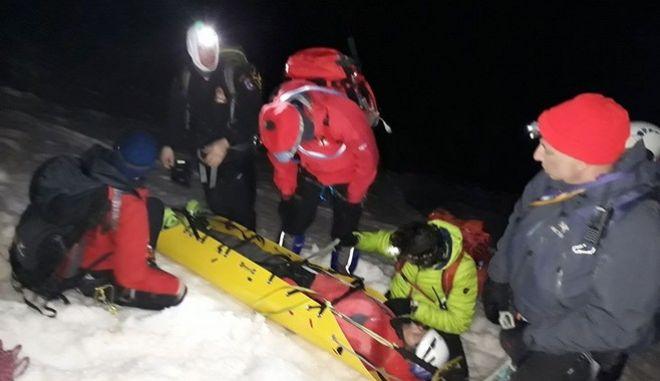 Διάσωση του Γάλλου ορειβάτη στον Όλυμπο