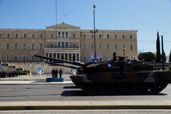 Στρατιωτική παρέλαση στην Αθήνα για την εθνική επέτειο της 25ης Μαρτίου 1821, την Δευτέρα 25 Μαρτίου 2019. (EUROKINISSIΠΑΝΑΓΟΠΟΥΛΟΣ ΓΙΑΝΝΗΣ)