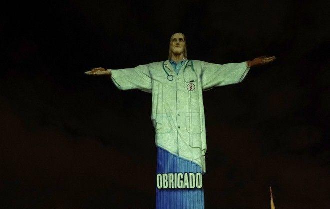 Το Άγαλμα του Χριστού Λυτρωτή στο Ρίο ντε Τζανέιρο της Βραζιλίας