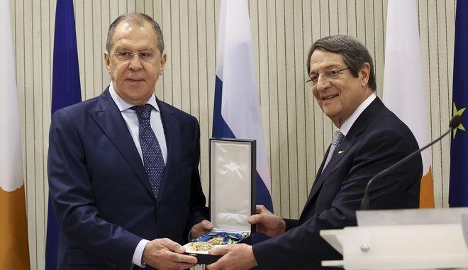 Συνάντηση Νίκου Αναστασιάδη - Σεργκέι Λαβρόφ