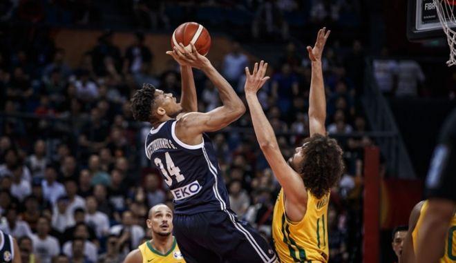 ΜΟΥΝΤΟΜΠΑΣΚΕΤ / ΚΙΝΑ / ΠΑΓΚΟΣΜΙΟ ΚΥΠΕΛΛΟ 2019 / ΒΡΑΖΙΛΙΑ - ΕΛΛΑΔΑ (ΦΩΤΟΓΡΑΦΙΑ: FOR EDITORIAL USE ONLY / FIBA.COM)