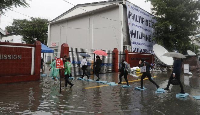 Τυφώνας στις Φιλιππίνες. Φωτο αρχείου.