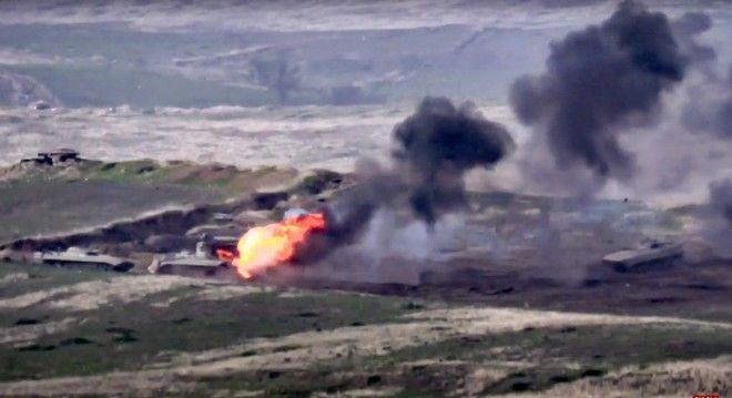 Δυνάμεις της Αρμενίας καταστρέφουν τανκ του Αζερμπαϊτζάν