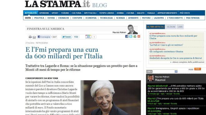 Βόμβα ΔΝΤ και στην Ιταλία