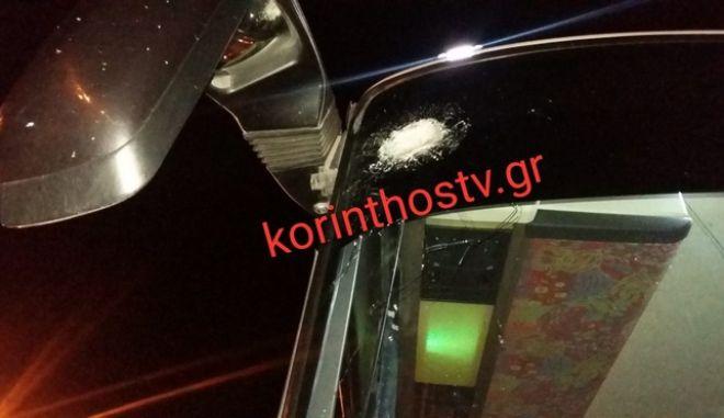 Άγνωστοι πέταξαν πέτρες σε λεωφορείο στην εθνική οδό Αθηνών - Κορίνθου