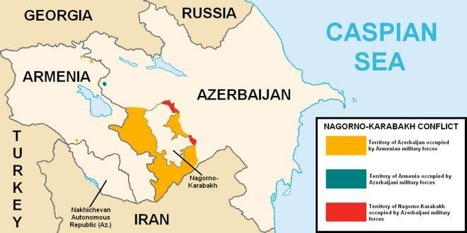 Χάρτης του Ναγκόρνο - Καραμπάχ