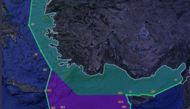 Νέος χάρτης-πρόκληση από την Τουρκία - Η απάντηση της Ελλάδας