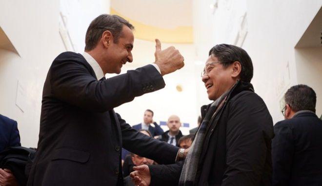 Συναντήσεις του Πρωθυπουργού Κυριάκου Μητσοτάκη στα πλαίσια του World Economic Forum, στο Davos της Ελβατίας, την Πέμπτη 23 Ιανουαρίου 2020.