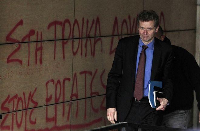 O απεσταλμένος του ΔΝΤ στην Ελλάδα Πολ Τόμσεν. Φεβρουάριος 2014