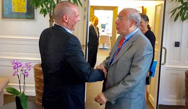 ΠΑΡΙΣΙ-Συνάντηση με τον γενικό γραμματέα του ΟΟΣΑ, 'Ανχελ Γκουρία, είχε το απόγευμα στο Παρίσι, ο υπουργός Οικονομικών, Γιάνης Βαρουφάκης.(EUROKINISSI)