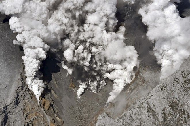 Κρατήρας ηφαιστείου στην Ιαπωνία