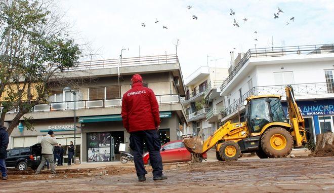 Καταστροφικές πλημμύρες στη Μάνδρα Αττικής  - Φωτογραφία αρχείου