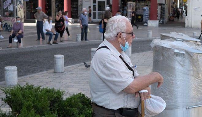 Στιγμιότυπο από το κέντρο της Θεσσαλονίκης, εν μέσω πανδημίας