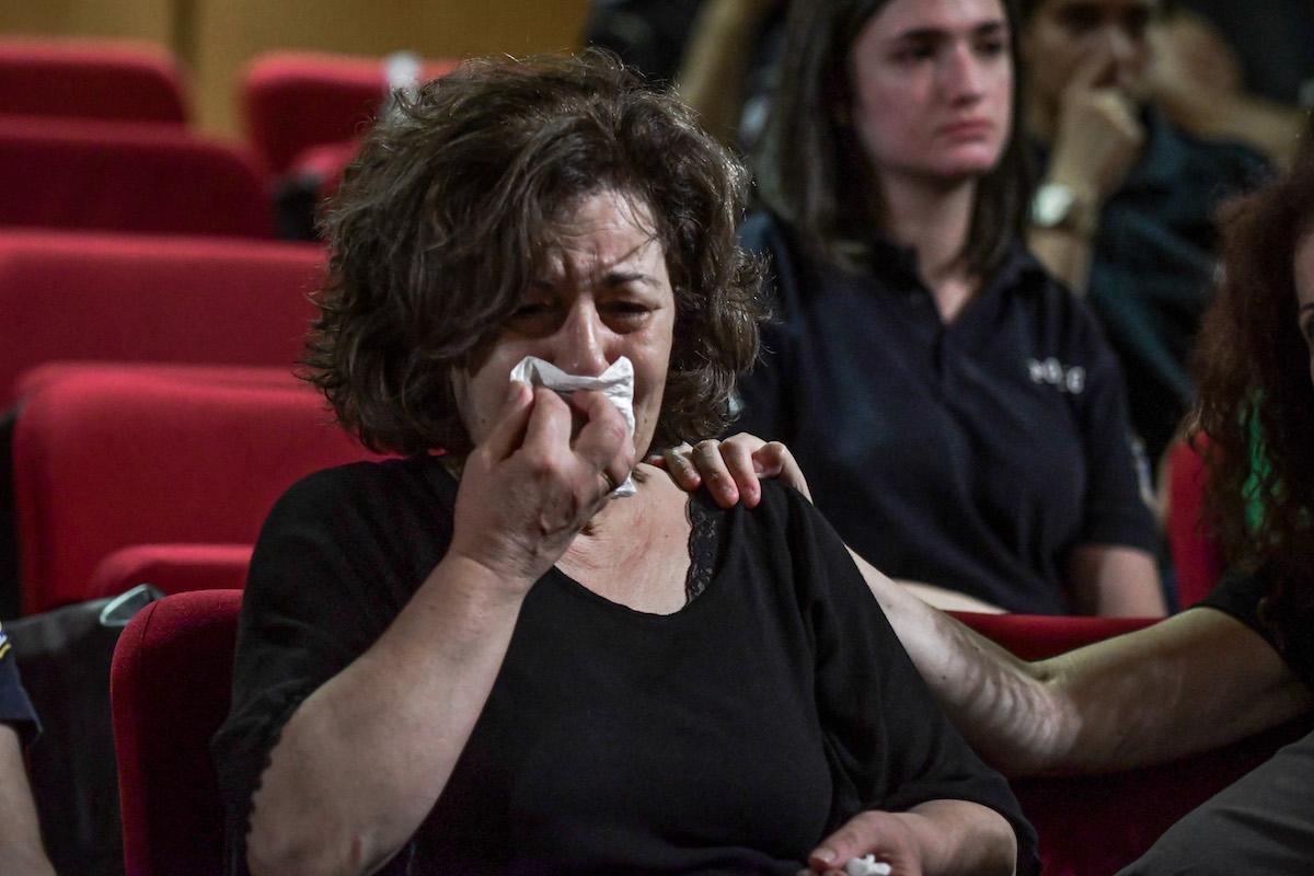 Απολογίες των κατηγορουμένων στην δίκη της Χρυσής Αυγής με πρώτη υπόθεση αυτήν της δολοφονίας του Παύλου Φύσσα, 34 ετών, μουσικού, εργάτη στη Ζώνη Περάματος, τη νύχτα της 17ης Σεπτεμβρίου 2013. Στην φωτό η μητέρα του Παυλου Φύσσα, Μάγδα Φύσσα.