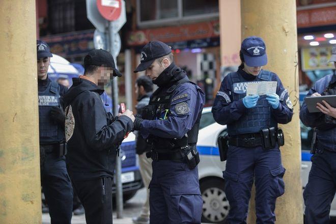 Αστυνομική επιχείρηση στην οδό Μενάνδρου, στο κέντρο της Αθήνας,  το Σάββατο 15 Φεβρουαρίου 2020