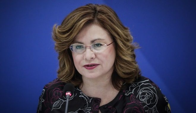 H εκπρόσωπος Τύπου της ΝΔ, Μαρία Σπυράκη