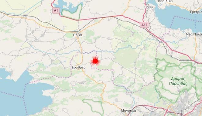 Σεισμός νότια της Θήβας - Αισθητός στην Αθήνα