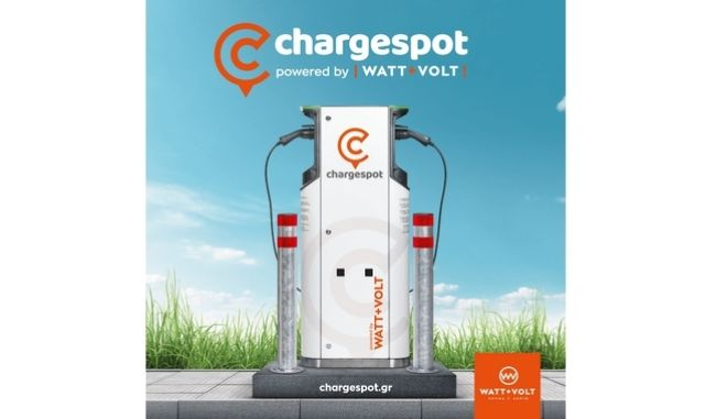 WATT+VOLT: Με το Chargespot ενισχύει την ηλεκτροκίνηση, το περιβάλλον  και τα έσοδα των επιχειρήσεων