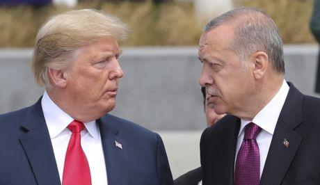 Ο πρόεδρος των ΗΠΑ Ντόναλντ Τραμπ και ο Τούρκος πρόεδρος Ρετζέπ Ταγίπ Ερντογάν