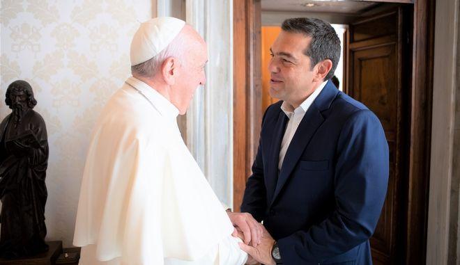 Συνάντηση Αλέξη Τσίπρα και Πάπα Φραγκίσκου