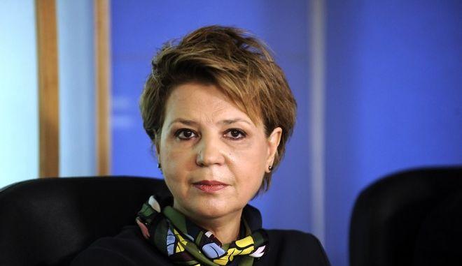 Παράδοση - παραλαβή από τον υπουργό Επικρατείας, αρμόδιο για τον συντονισμό του κυβερνητικού έργου, Χριστόφορο Βερναδάκη, στην απερχόμενη κυβερνητική εκπρόσωπο Όλγα Γεροβασίλη του υπουργείου Διοικητικής Ανασυγκρότησης, την Δευτέρα 7 Νοεμβρίου 2016. (EUROKINISSI/ΤΑΤΙΑΝΑ ΜΠΟΛΑΡΗ)