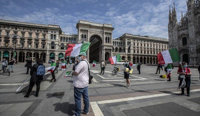 Άνθρωποι στο Μιλάνο