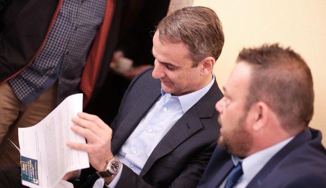 Στιγμιότυπο από την επίσκεψη του Προέδρου της Νέας Δημοκρατίας Κ. Μητσοτάκη στην Κέρκυρα
