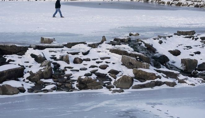 Παγωμένη λίμνη στο Τέξας