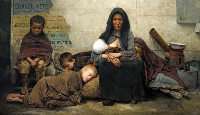 Sans Asile - Without Asylum 1883 Fernand Pelez 1843 – 1913 French painter of Spanish origin who worked in Paris. Pelez portrayed social issues in a realistic style