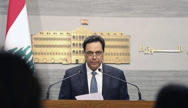 Ο πρωθυπουργός του Λιβάνου Χασάν Ντιάμπ