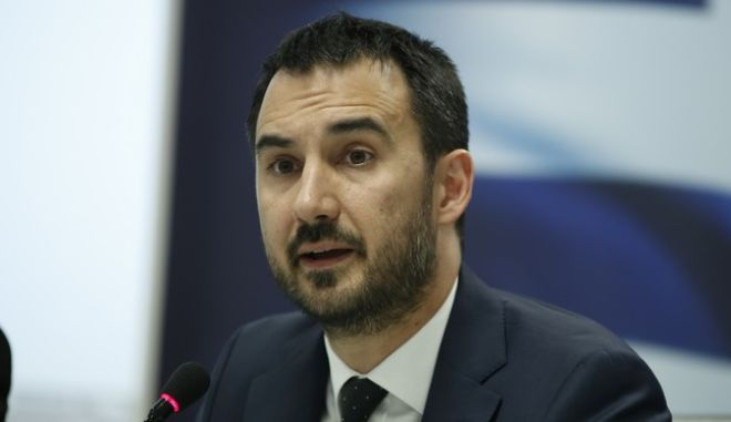 O εκπρόσωπος Τύπου του ΣΥΡΙΖΑ Αλέξης Χαρίτσης