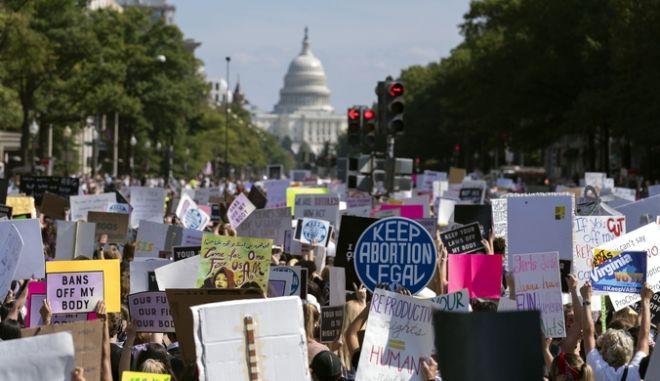 Εικόνα από τη διαδήλωση στην Ουάσιγκτον