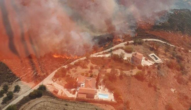 Φωτιά στην επαρχία Πάφου