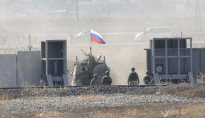 Ρωσικό άρμα σε συριακό έδαφος