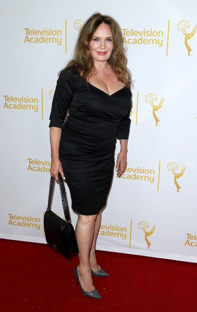 Catherine Bach arrives at the 2014 Daytime Emmy Nominee Reception presented by the Television Academy at The London West Hollywood on Thursday, June 19, 2014. (Photo by Matt Sayles/Invision for the Television Academy/AP Images)