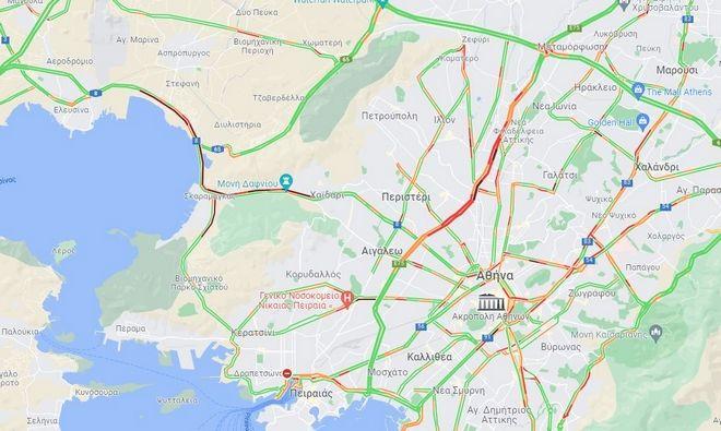 Κίνηση στους δρόμους: Άνοιξε η Εθνική Αθηνών - Κορίνθου - Δύο σοβαρά τραυματίες σε τροχαίο
